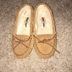 Minnetonka suede slippers